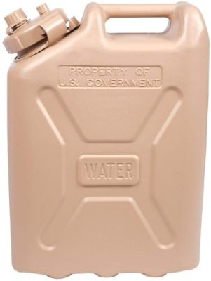 LCI Plastic Water Can, Desert Sand, 5-gallon