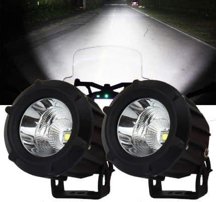 Samlight LED Driving Light,2Pcs Cree 25W 6000K Spot Beam Round LED Work Light Pod lights Work Lamp