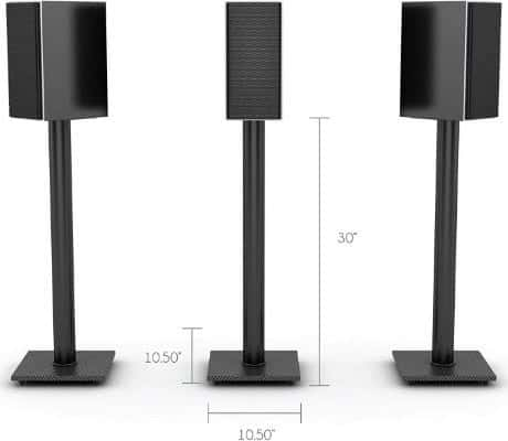 Atlantic 77335799 Speaker Stands for Bookshelf Speakers