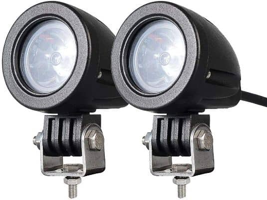 2PACK 12W LED Spot POD RACE LIGHTS Off-Road Motorcycle Dirt Bike Fog Driving Work Lights 1200LM