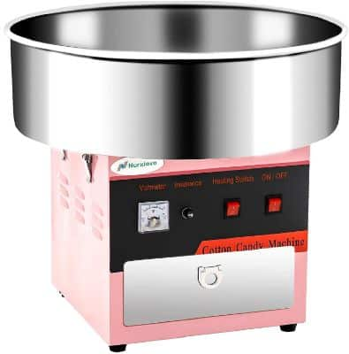 Cotton Candy Machine -Nurxiovo 21 Inch Large Electric Commercial Cotton Candy Maker Machine Stainless Steel
