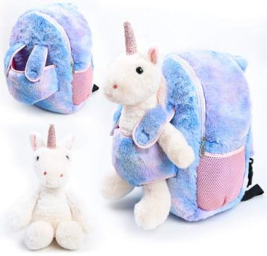 Funday Unicorn Kids Backpack with Removable Wheel backpack