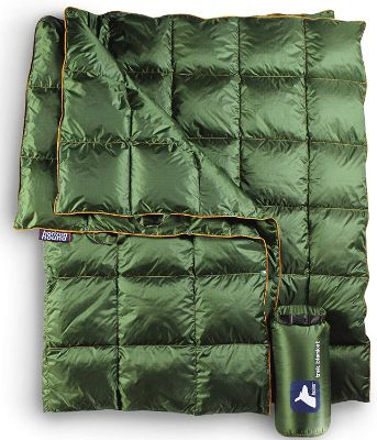 Horizon Hound Down Camping Blanket - Outdoor Lightweight Packable Down Blanket Compact Waterproof