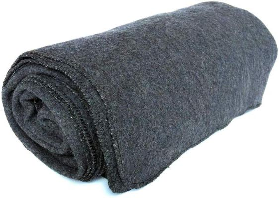 EKTOS 90% Wool Blanket, Grey, Warm & Heavy 4.4 lbs, Large Washable 66x90 Size