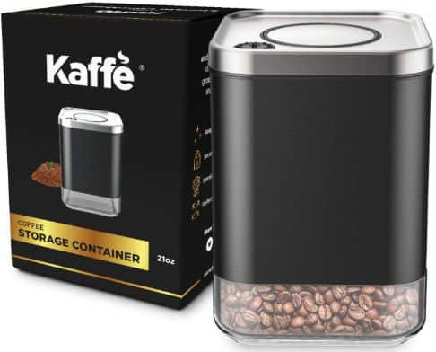 KF3020S Glass Storage Container. Coffee Canister by Kaffe