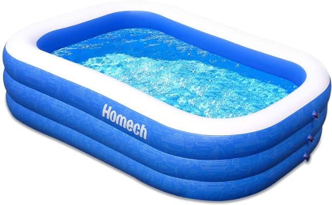 Homech Family Inflatable Swimming Pool, 120 X 72 X 22