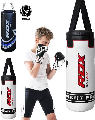 RDX Kids Heavy Boxing 2FT Punching Bag UNFILLED MMA Punching Training Gloves Kickboxing