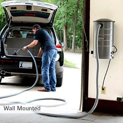 VacuMaid GV30 Wall Mounted Garage Vacuum with 30 ft Hose and Tools