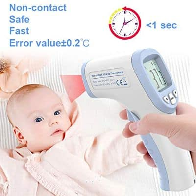 Smart Health Monitors Equipment, Forehead Thermometer Non-Contact Infrared Thermometer Digital Ear Thermometer