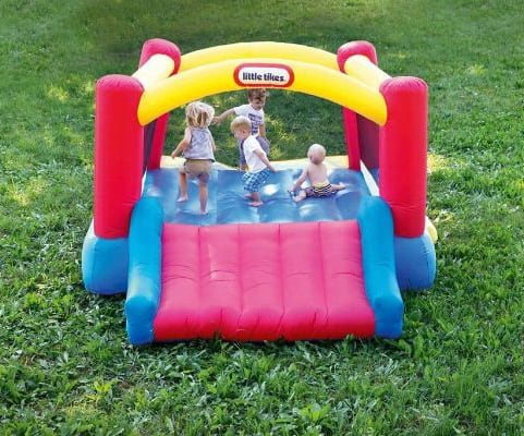Little Tikes Inflatable Jump 'n Slide Bounce House w:heavy-duty blower