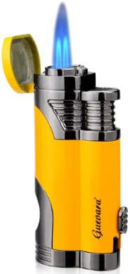 Butane Torch Lighter with Punch Windproof Double Flame Lighters