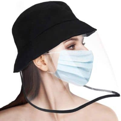 PISIQI Bucket Sun Hat Anti Saliva Fog UV Full-face Protective Transparent Cap Removable Hat