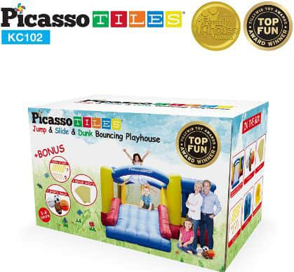 PicassoTiles [Upgrade Version] KC102 12x10 Foot Inflatable Bouncer