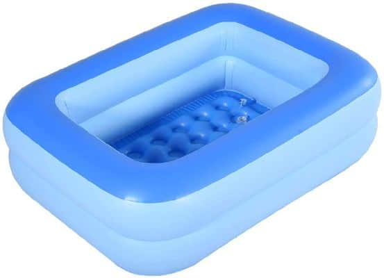 HIWENA Inflatable Kiddie Pool, 45 Orange Kids Swimming Pool