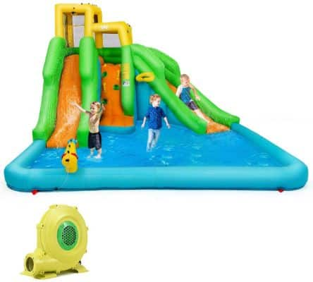 BOUNTECH Inflatable Bounce House, Mighty Water Pool