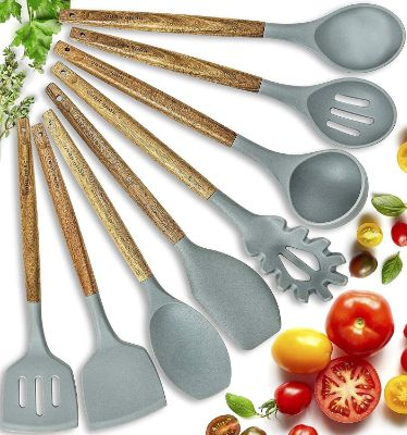 Home Hero Silicone Cooking Utensils Kitchen Utensil Set - 8
