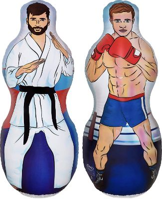 ImpiriLux Inflatable Two-Sided Karate and Boxing Punching Bag | Includes One Inflatable 5 Foot Tall Bop Bag