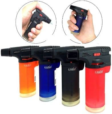 Pack of 4 Eagle Jet Gun Torch Lighter Windproof Refillable Lighter
