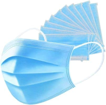 Anti-Spitting Protective Mask Dustproof Cover, Prevent Saliva Safety Face Shields, Blue 50 PCS