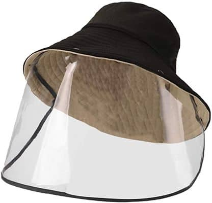 FEOYA Unisex Sun Protective Hat Detachable Face Mask