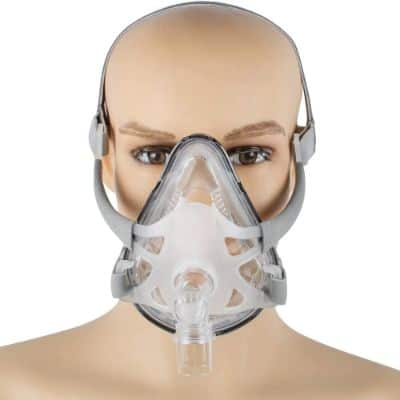 Denshine Adjustable Full Face Mask with Headgear for Sleep