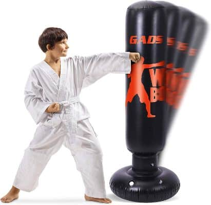Gads Punching Bag for Kids | Premium Inflatable Bag for Immediate Bounce-Back | 62 inches Free Standing Bag