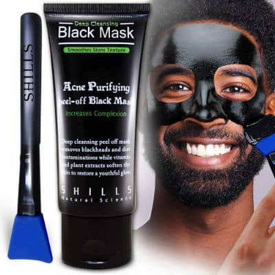 SHILLS Charcoal Mask for Men, Purifying Peel Off Mask