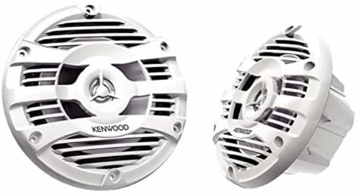 "Kenwood KFC-1653MRW ""2-Way Marine Speakers 6.5-Inch Pair (White)"