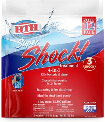 4-In-1 Swimming Pool Shock Treatment