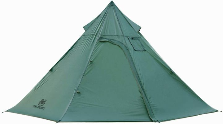 Tent With Stove Jack & Iron Wall