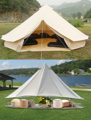 Cotton Canvas Tent With Stove Jack