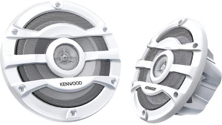 Kenwood 8 Inch Powersports Boat Marine Speakers | KFC-2053MRW -300 Watts