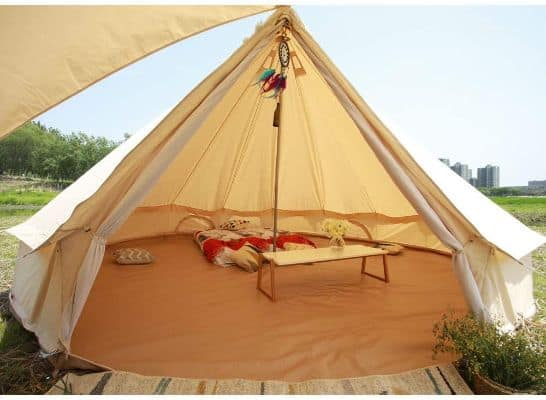Large Tent With Roof Stove Jack Hole