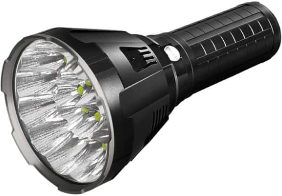 Waterproof Thrower Flashlight With OLED Display