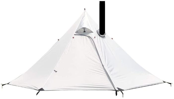 Camping Tent With Flue Pipes Window