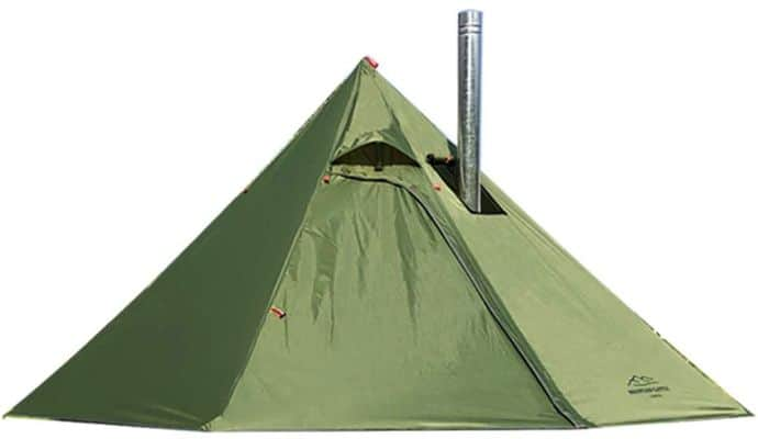 Outdoor Hot Tent With Stove Jack