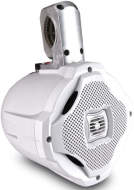 Two-way Marine Wakeboard 500-watt Tower Speaker - 6.5 Inch mid Range Audio Waterproof and Weatherproof
