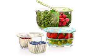 LUXEAR Fresh Produce Vegetable Fruit Storage Containers 1