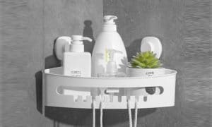 LUXEAR Wall Mounted Corner Shower Caddy 1