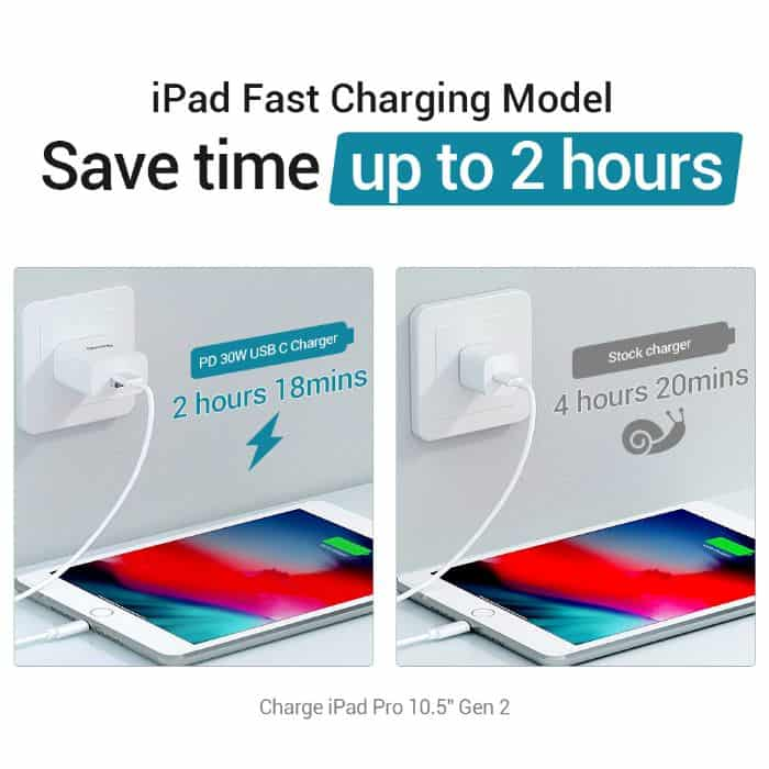 Quntis 30W - iPad Charger iPhone Fast Charger MFi Certified 4