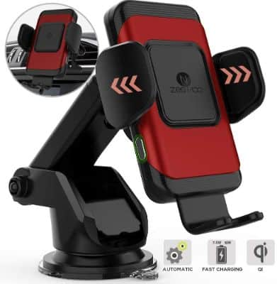 10W Fast Wireless Car Charger With Auto-Clamping Function