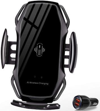 Auto-Clamping Fast Wireless Car Charger